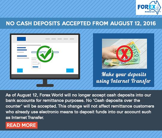 No Cash Deposit